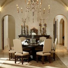 Mediterranean Dining Room by CGN Designs LLC