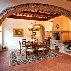 Mediterranean Dining Room by Dorado Designs