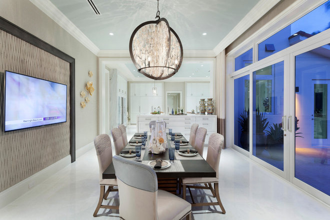 Contemporary Dining Room by Marc-Michaels Interior Design