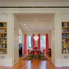 Transitional Dining Room by Andrew Franz Architect PLLC
