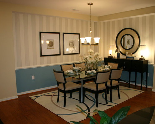 Houzz Wallpaper Dining Room: Chair Rail Wallpaper Ideas, Pictures, Remodel And Decor