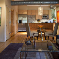 Contemporary Dining Room by Kendall Marcelle Design Assoc. Inc.