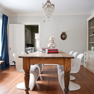 Vintage and modern dining room