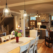 Farmhouse Dining Room by Thelen Total Construction