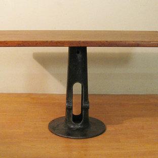 Vintage Industrial Butcher Block Dining Table