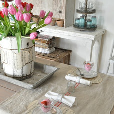 Eclectic Dining Room by Buckets of Burlap
