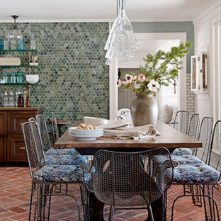 Example of a tuscan dining room design in Other