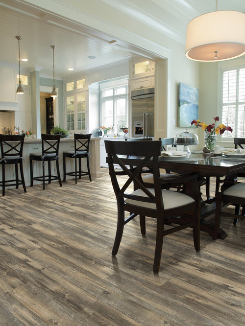 Inspiration For A Mid Sized Rustic Kitchen Dining Combo Remodel In Austin With White