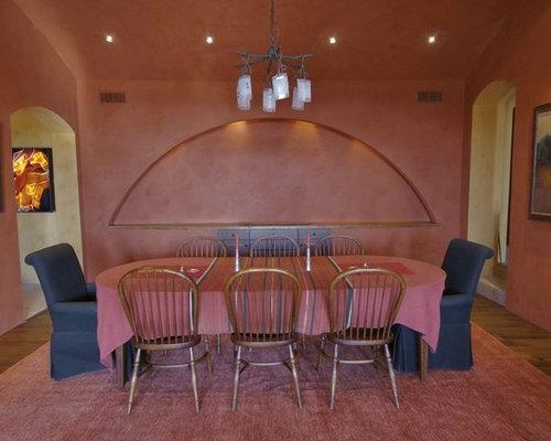 Sala da pranzo american style con pareti rosa foto idee arredamento - Pareti sala da pranzo ...