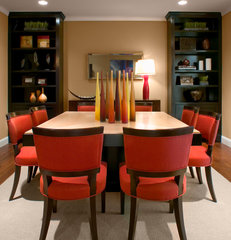 contemporary dining room by Kenneth Brown Design