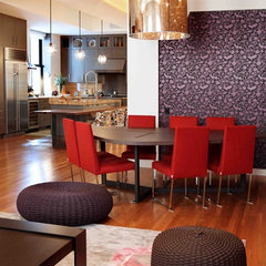 contemporary dining room by valerie pasquiou interiors + design, inc