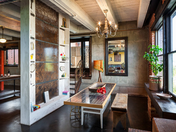 Industrial Dining Room by KuDa Photography