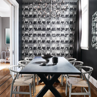 75 Beautiful Dining Room With Black Walls Pictures Ideas September 2020 Houzz