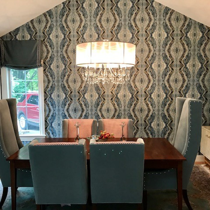 Wallpaper Install:Dining Room Accent Wall
