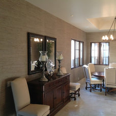 Contemporary Dining Room by All American Wallpapering & Painting
