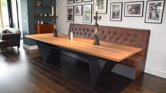 Walnut & Steel Table