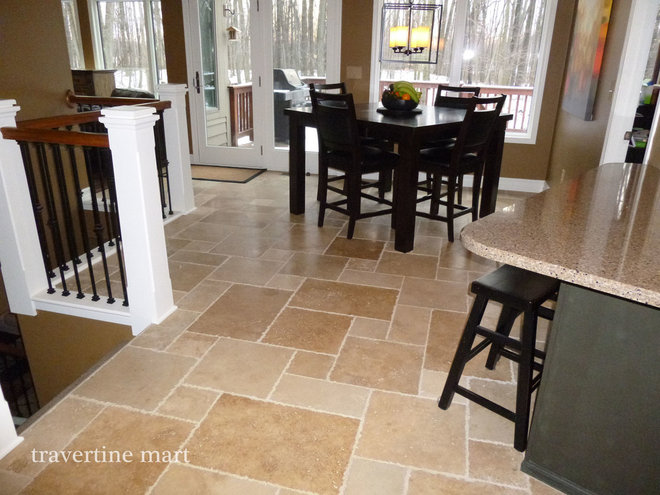 Traditional Dining Room by Travertine Mart
