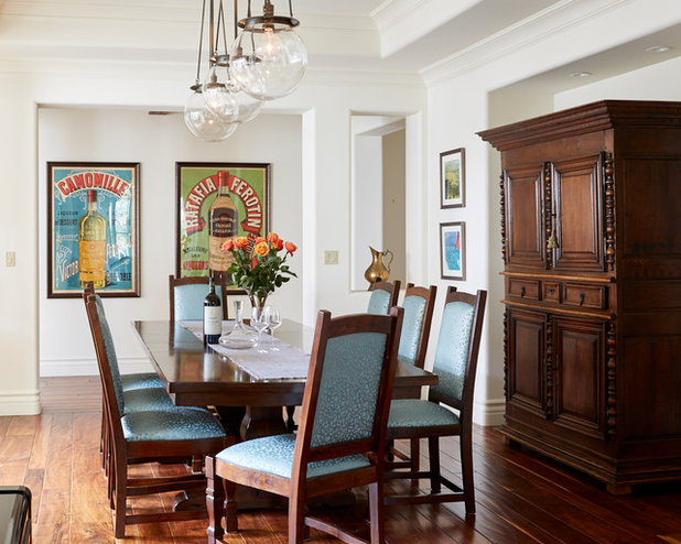 Transitional Dining Room by Workroom C