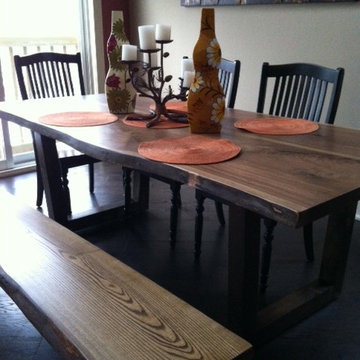 WALNUT LIVE EDGE TABLE / COUNTERTOPS / COFFEE TABLES