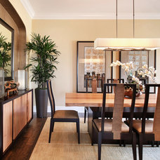 Asian Dining Room by International Custom Designs