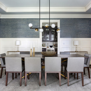 Warm and Modern Dining Room
