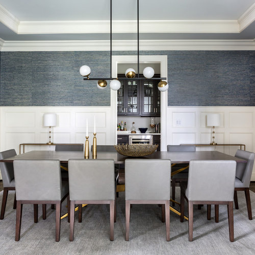 Inspiration For A Transitional Dark Wood Floor And Brown Dining Room Remodel In DC Metro