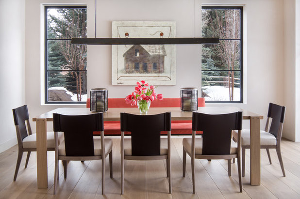 Contemporary Dining Room by Jennifer Hoey Interior Design