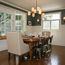 transitional dining room by Visbeen Architects