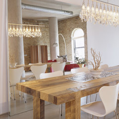 modern dining room by Lucy Interior Design