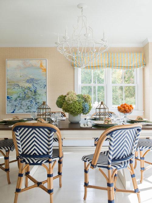 44 floral art beach style dining room design photos