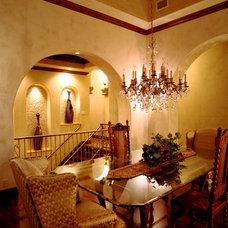 Mediterranean Dining Room by Alberto Jauregui Designs, Inc.