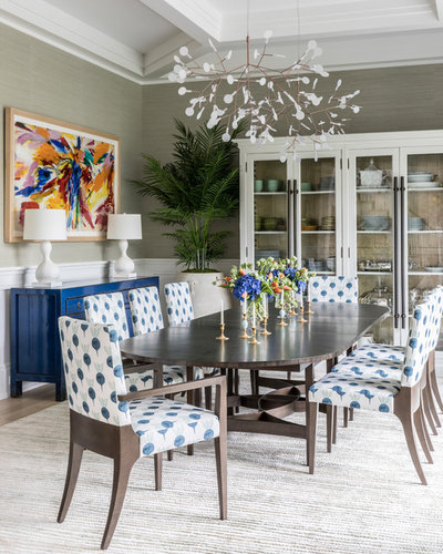 Beach Style Dining Room by Bennett Leifer Interiors