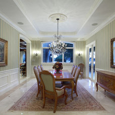 Traditional Dining Room by W.A. Bentz Construction, Inc.
