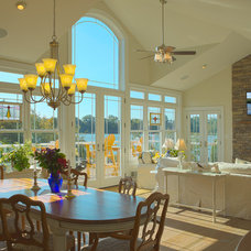 Traditional Dining Room by CUSTOMIZED CONSTRUCTION INC