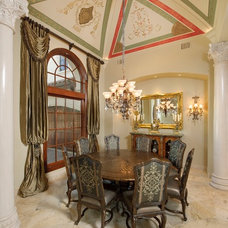Mediterranean Dining Room by Gary Keith Jackson Design Inc