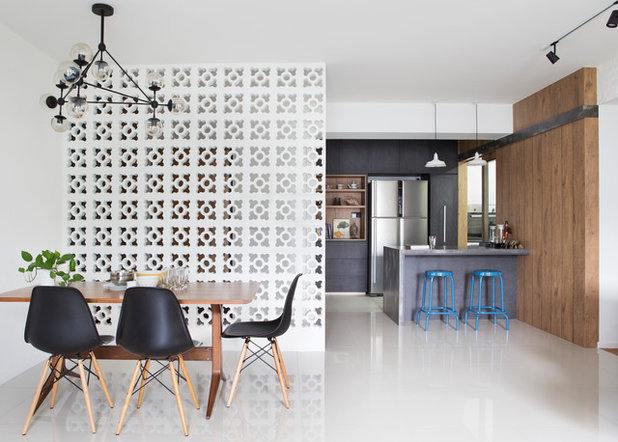 Contemporary Dining Room by Fuse Concept Pte Ltd