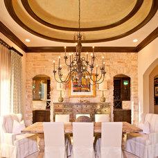 Mediterranean Dining Room by Maison Market