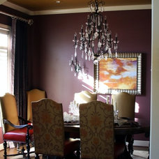 Eclectic Dining Room by Valerie Davis