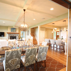 Beach Style Dining Room by Cottage Home, Inc.