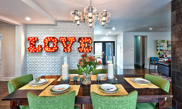 Eclectic Dining Room By Bryant Hill Media