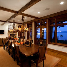 Traditional Dining Room by Crestwood Construction Inc.