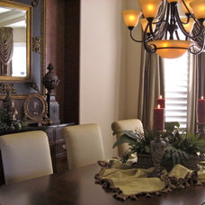 Traditional Dining Room by Curtain Call Interiors