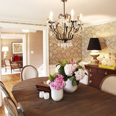 Eclectic Dining Room by Hudson Interior Design