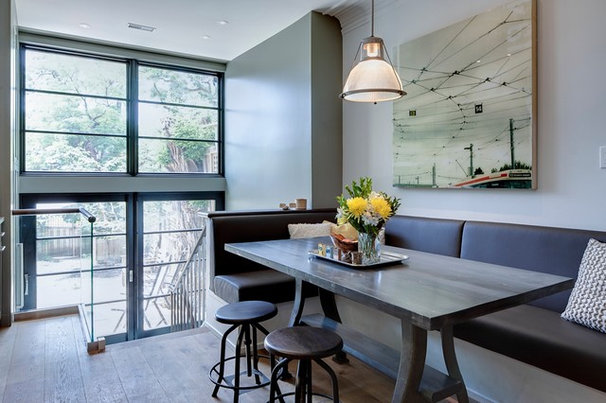 Contemporary Dining Room by Beauparlant Design inc