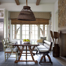 Transitional Dining Room by Thompson Custom Homes