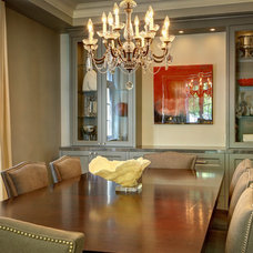 Traditional Dining Room by barlow reid design