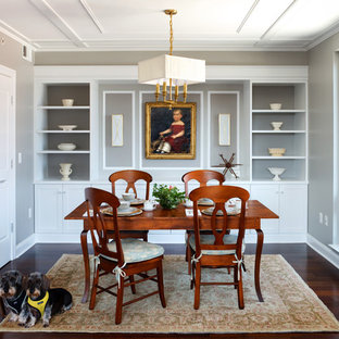 Inspiration For A Timeless Dark Wood Floor Enclosed Dining Room Remodel In  DC Metro With Gray