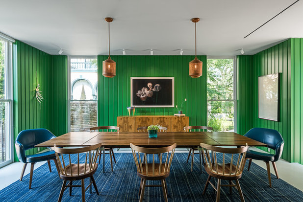 Midcentury Dining Room by Dillon Kyle Architects (DKA)