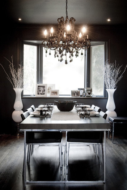 Eclectic Dining Room by Gaile Guevara