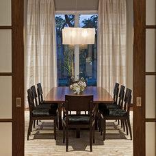 Contemporary Dining Room by Bulhon Design Associates